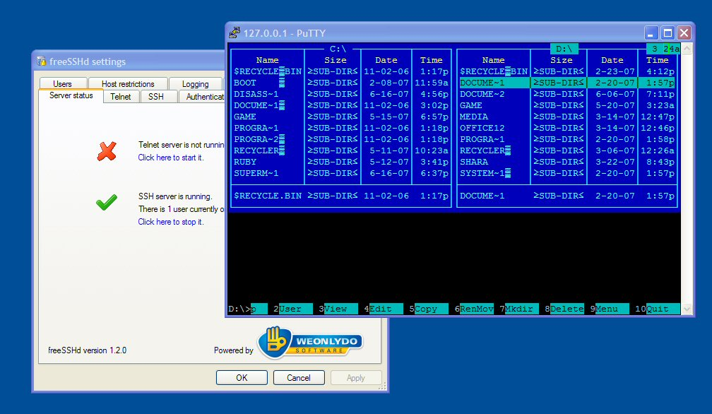 open source SSH and SFTP servers for Windows